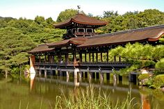 One of the pavilions in the gardens of Heian-jingu Temple.