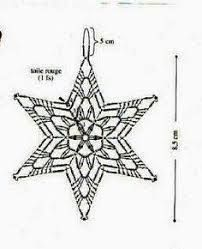 Image result for crochet snowflake chart