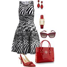 Issa Zebra print dress, created by mrsbro on Polyvore