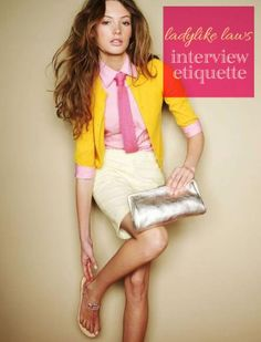 Interview Etiquette * how to ace a job interview with Fashionista Laura Conrad Style Work, Mode Style, Style Me, Prep Style, Boho Mode, Look Fashion, Fashion Outfits, Spring Fashion, Fashion Movies