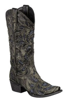Lane Boots Damask Blue Women's Cowgirl Boots