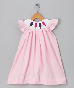 Take a look at this Pink Popsicle Angel-Sleeve Dress - Toddler & Girls by Molly Pop Inc. on #zulily today!