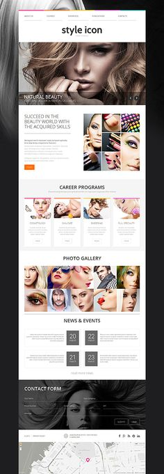 School Of Beauty #website #template. #themes #business #responsive