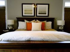 master bedroom using only clients things!
