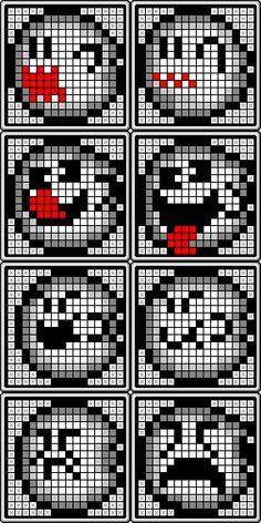 Boo Buddies - Super Mario World perler bead patterns