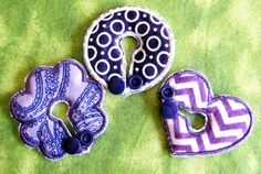 Purple Belly Dots and Shapes Button Cover Set for by aHaDesigns2, $5.00