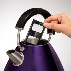 The Plum Accents pyramid kettle is sleek, unique, functional and purple! Yes, purple, to add an original touch to your kitchen. Traditional Kettles, Small Appliances, Plum