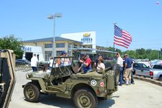 WW2 Jeeps at 2012 Armed Forces Day at Peters Chevrolet