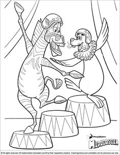 Madagascar 3 coloring picture Malebger