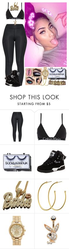 """I'm too litty Kid 🔥🔥🖤"" by xglodollx ❤ liked on Polyvore featuring Calvin Klein Underwear, Sonia Kashuk, Ewing Athletics, Nicki Minaj, Dyrberg/Kern and Forever New"