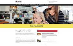 Modena - responsive #WordPress theme great for small businesses, such as #beauty salons, #fitness clubs, etc.