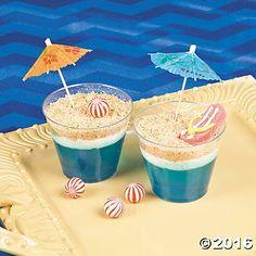 Beach Scene Dirt Cups Recipe Idea This dessert idea will make waves at your luau or beach party! Moana Birthday Party, Hawaiian Birthday, Luau Birthday, Moana Party, Hawaiian Luau, Hawaiian Parties, Birthday Ideas, Summer Birthday, 10th Birthday
