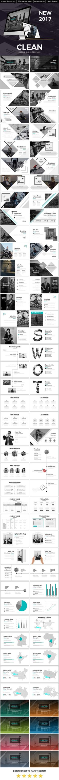 Clean 2017 Google Slide Template - Google Slides #Presentation #Templates Download here: https://graphicriver.net/item/clean-2017-google-slide-template/19742859?ref=alena994: