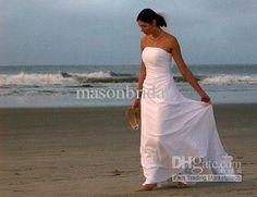 Купить товарИзысканный без бретелек анке длина гофрированная атласная пляж свадебное / свадебные платья горячие платья невесты в категории Платья подружек невестына AliExpress.   Приглашаем Вас посетить наш магазин Наши свадебные платья Новый непосредственно к вам от нашей швеи.  Если вы решите з