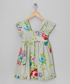 Take a look at this Green Rose A-Line Dress - Toddler & Girls on zulily today!