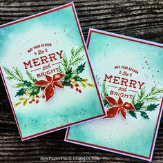SewPaperPaint: Tim Holtz Winter Watercolor and Festive Overlay Card Making Inspiration, Christmas Inspiration, Tim Holtz, Handmade Christmas, Christmas Crafts, Simple Snowflake, Stampers Anonymous, Coffee Cards, Winter Cards
