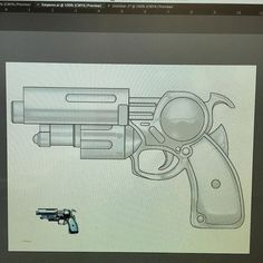 """In less sad news I made a thing. This is a blueprint for Hol Horse's stand """"Emperor"""". #cosplay #cosplayprop #blueprint #cosplayweapon #holhorse #emperor #cosplans #jojosbizarreadventure"""