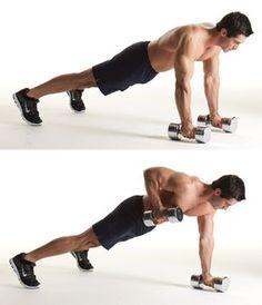 2) Pushup-position row http://www.menshealth.com/guy-wisdom/exericse-anywhere/slide/2