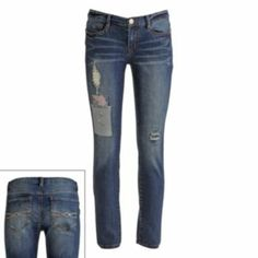 Mudd Distressed Patched Skinny Jeans - Juniors $19 ON CLEARANCE!!! MUST HAVE FOR ANY CLOSET