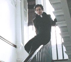 James McAvoy sliding down the banisters in Becoming Jane.