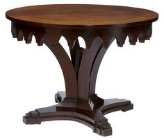 OnlineGalleries.com - ART DECO WITH GOTHIC INFLUENCE MAHOGANY CENTER TABLE