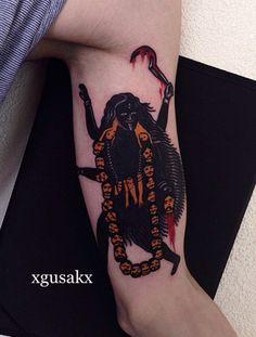 xGusakx as featured on Swallows&Daggers. Kali Tattoo, Full Body Tattoo, Body Art Tattoos, Pretty Tattoos, Awesome Tattoos, Buddhist Art, New Skin, Skin Art, Body Mods