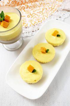 Eggless Mango Cheesecake Recipe with step by step photos - It is no bake, no gelatin, no agar-agar, vegetarian mango cheesecake recipe.
