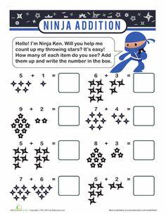 Worksheets: Ninja Arithmetic