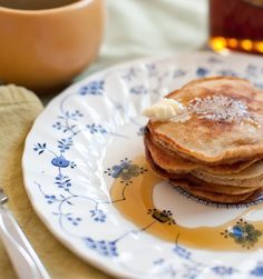 Coffee Pancakes recipe. Easy homemade pancakes infusing coffee into the batter for some extra kick in he morning.