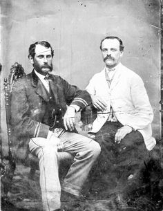 ca. 1865, James Bulloch (left) was a Confederate Naval Officer and Agent in England, while his half-brother Irvine Bulloch (right) was the youngest officer on the CSS Alabama during the War. They were the uncles of Theodore Roosevelt. - Photo & info courtesy of Defending the Heritage