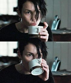 Noomi Rapace // Lisbeth Salander // The Girl With The Dragon Tattoo Iconic Characters, Female Characters, Lisbeth Salander, Millenium, Stieg Larsson, Noomi Rapace, Best Tattoos For Women, Girl Short Hair, Rock Roll