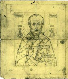 Painting Studio, Painting Process, Religious Icons, Religious Art, Monastery Icons, Russian Icons, Saint Nicholas, Art Icon, Sacred Art