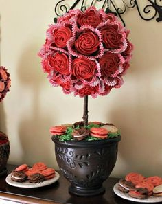 This is a cupcake topiary! I love making these as...