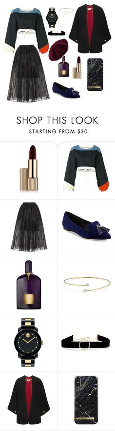 """#PolyPresents: New Year's Resolutions"" by cilphandethuong ❤ liked on Polyvore featuring Estée Lauder, Chloé, Elie Saab, Saks Fifth Avenue, Tom Ford, Elsa Peretti, Movado, Anissa Kermiche, Burberry and contestentry"