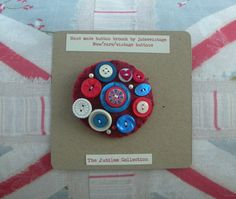 hand made vintage button brooch The Jubilee by judesvintage, £5.99