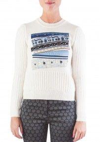 Kenzo Angora Bouclette Knit Ribbon Sweater