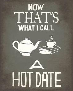 Nothing better than tea & books!