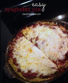Easy Spaghetti Pie Recipe Baked