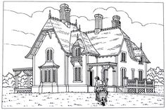 20 Top Victorian Houses Coloring Book Pages images
