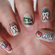Dental Nail art!  Such a cute creative idea!!   www.martinandshengdental.com
