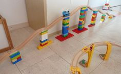 DUPLO LEGO BRIO Wooden Train Track Adapter Light por WoodpeckersCH