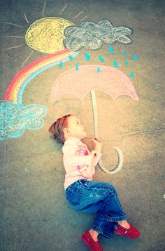 Sidewalk chalk adventures!