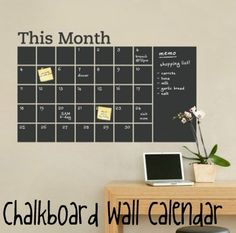 Simple Shapes - Chalkboard Calendar with Memo Wall Decal - Stay organized with the help of this chalkboard wall calendar. This calendar wall. Chalkboard Wall Calendars, Chalkboard Paint, Calendar Wall, Chalk Paint, Blackboard Wall, Office Calendar, Black Chalkboard, Family Calendar, Calendar Design