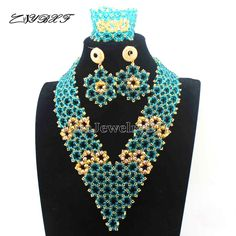 ==> [Free Shipping] Buy Best African New Mix Costume Bridal Indian Jewelry Set Women Fashion Jewellery Trends Traditonal Wedding Beads Free Shipping E1104 Online with LOWEST Price | 32691121049