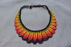 Multicolor necklace, very elegant, with handbeaded small beads, adjustable ! Can be worn with a cocktail dress or more casual with jeans and tank tops. Wear an unique necklace and be unique ! Handmade Necklaces, Beaded Necklaces, Bustiers, Crochet Earrings, Tank Tops, Jewelry, Necklaces, Stud Earrings, Manualidades