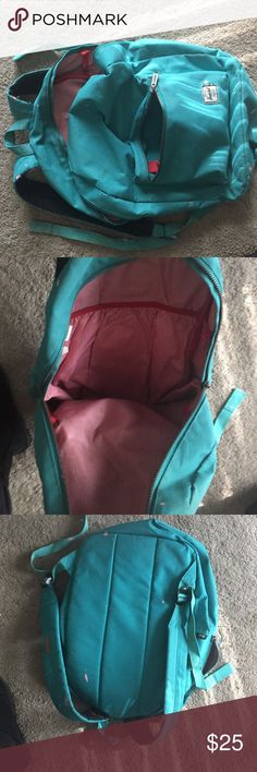 Herschel backpack Herschel backpack. All zippers work it just has some pink paint splattered on it but nothing big like everywhere. Still in good condition.also has a little patch where you can put laptop Herschel Supply Company Bags Backpacks