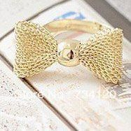 Fashion gold plated color Exquisite Noble Cute Bow ring, Girls fashion ring, adjustable