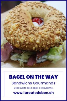 Bagel on the way propose un assortiment de bagel rond et gourmand avec des recettes faite maison. #lausanne #suisse #vaud #bagel #food Lausanne, Bagels, Sandwiches, No Way, Bread, Food, White Bread, Switzerland, Homemade