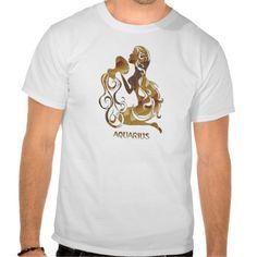Aquarius Water Bearer Zodiac Symbol T shirts #zazzle