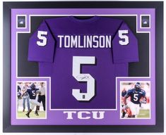 8e6c3bac199 LaDainian Tomlinson Signed TCU 35x43 Custom Framed Jersey (JSA COA (eBay  Link) Ladainian